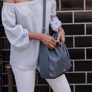 Brahmin bucket bag - blue